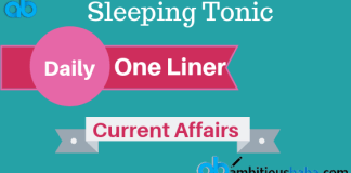 One liner current affairs 2019