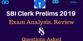 SBI Clerk Prelims 2019 Exam Analysis & Review