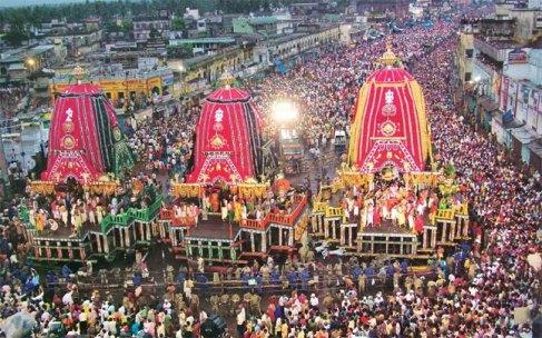 Devotees Celebrate Jagannath Rath Yatra In Odisha