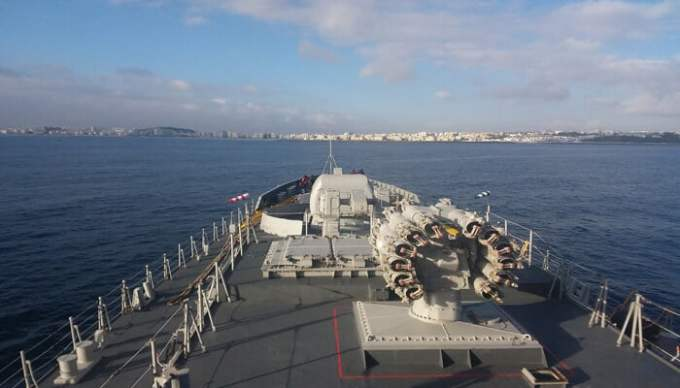 Indian Naval Ship Tarkash arrives in Morocco for 3-day visit