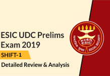 ESIC UDC Prelims Exam 2019 Shift-2 - Detailed Review And Analysi