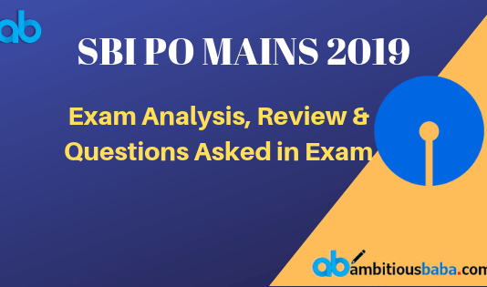 SBI PO MAINS 2019 Exam Analysis