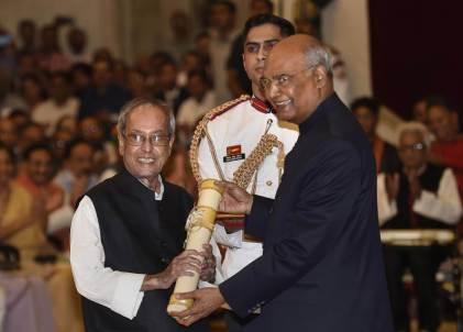 Pranab Mukherjee, Nanaji Deshmukh, Bhupen Hazarika received Bharat Ratna