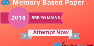 RRB PO MAINS 2018 Memory Based Paper
