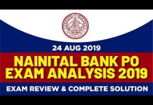 Nainital Bank PO Exam Analysis 2019