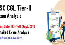 SSC CGL Tier 2 Exam analysis