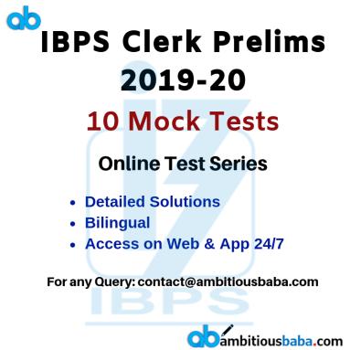 IBPS Clerk 2019 new