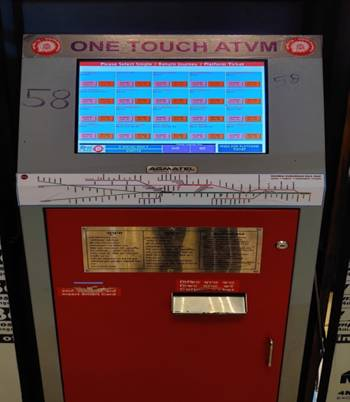 Railway launches One Touch ATVM for buying tickets easily