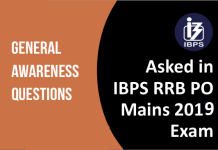 GA Questions asked in RRB PO MAINS