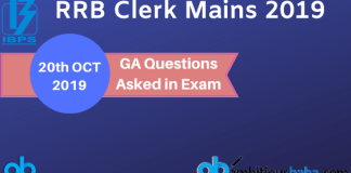 GA Questions Asked in RRB Clerk Mains 2019