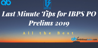Last Minute Tips for ibps po prelims
