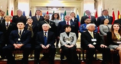 Om Birla addresses 6th Parliamentary Speakers' Summit of G 20 Countries