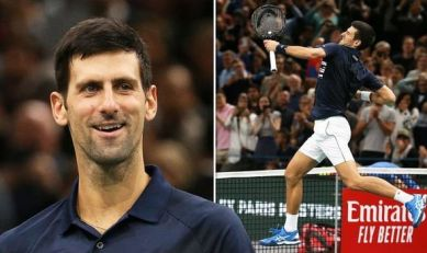 Novak Djokovic won Rolex Paris Masters