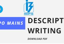 Blog IBPS PO 2019 Descriptive