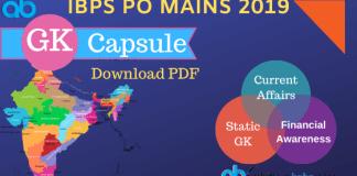 IBPS PO Mains 2019 GK Capsule