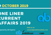 blog One Liner current affairs 2019