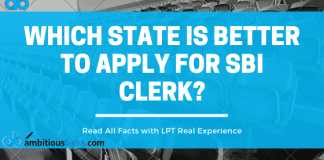 Which state is better to apply for SBI clerk?