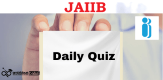 Jaiib daily Quiz