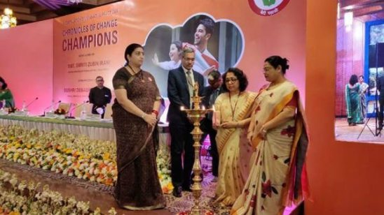 Smriti Irani releases book titled Chronicles of Change Champions