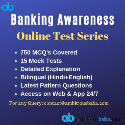 Banking Awareness Test Series
