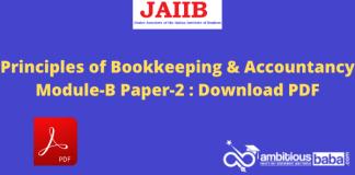 Principles of Bookkeeping & Accountancy Module-B Paper-2