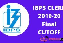 IBPS CLERK FINAL CUTOFF