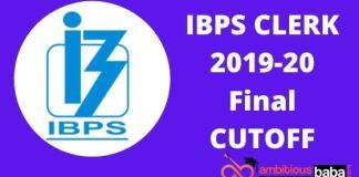 IBPS CLERK FINAL CUTOFF