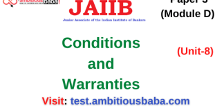 Conditions and Warranties (Jaiib Paper 3, Module D)