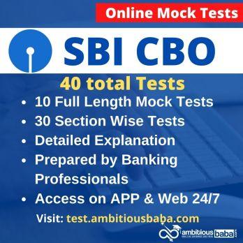 SBI CBO Online Mock Test