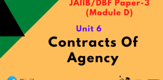 Contracts Of Agency: Jaiib/DBF Paper 3 (Module D),