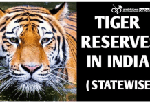 List of Tiger Reserve in India: State Wise