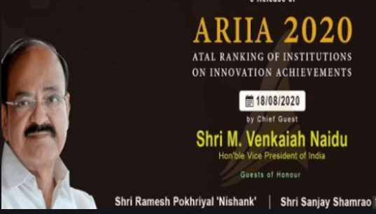 Atal Ranking of Institutions on Innovation Achievements (ARIIA) 2020