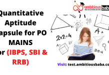 Quantitative Aptitude Capsule for PO MAINS :