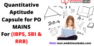 Quantitative Aptitude Capsule for PO MAINS :