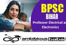 BPSC for Professor Electrical and Electronics Recruitment 2020 : 07 Post check here