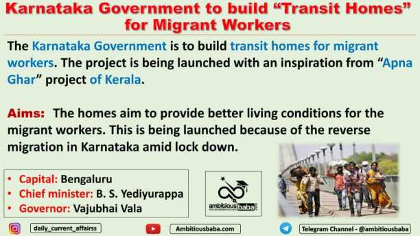 """Karnataka Government to build """"Transit Homes"""" for Migrant Workers"""