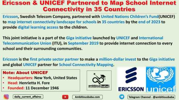 Ericsson & UNICEF Partnered to Map School Internet Connectivity in 35 Countries