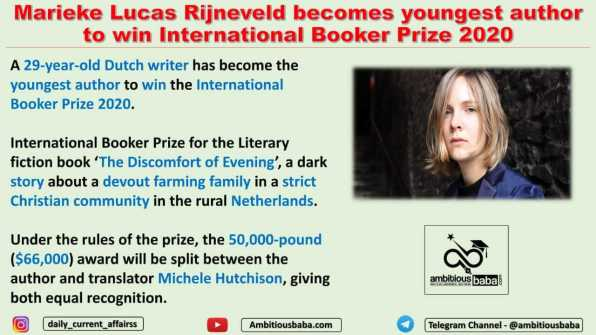 Marieke Lucas Rijneveld becomes youngest author to win International Booker Prize 2020