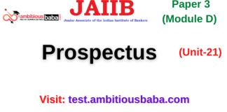 Prospectus: Jaiib Paper 3 (Module D)