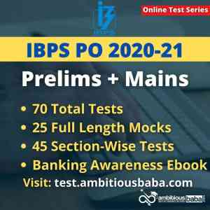 IBPS PO Pre and Mains mock 2020
