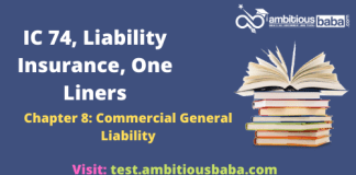 III, Optional Subjects_IC 74, Liability Insurance_One Liners_
