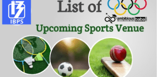 List of Upcoming Sports Events & Venues