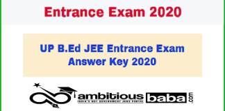 UP B.Ed Admission : Check Result & Answer Key 2020