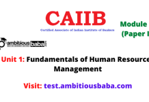 Fundamentals of Human Resources Management: Caiib