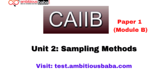 Sampling Methods: Caiib Paper 1 (Module B)