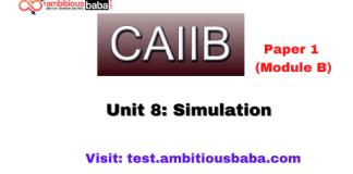 Simulation: Caiib Paper 1 (Module B)