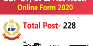 BSF for SI, ASI, Constable Recruitment 2020 : 228 Post check here