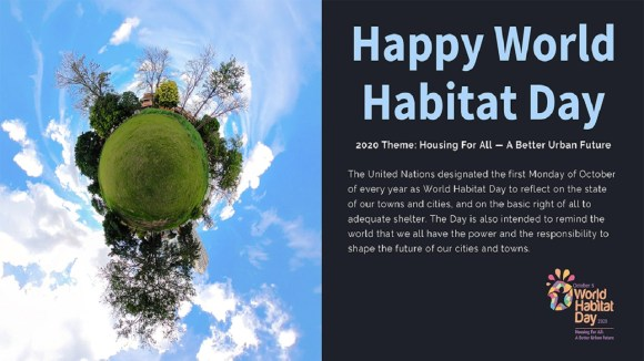 First Monday of October (October 5)- World Habitat Day