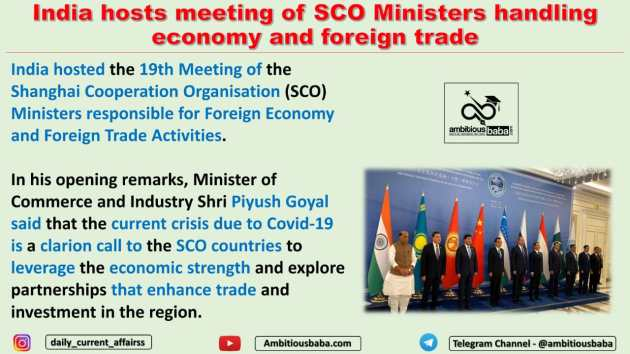 India hosts meeting of SCO Ministers handling economy and foreign trade