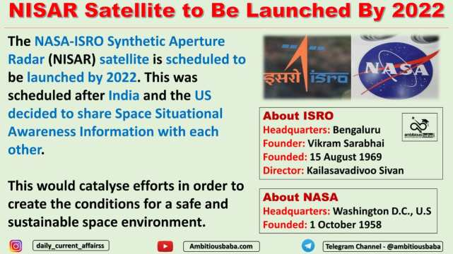 NISAR Satellite to Be Launched By 2022